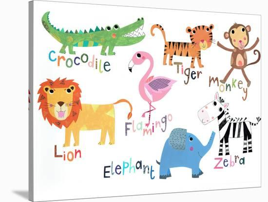 Jungle Animals With Names--Stretched Canvas Print