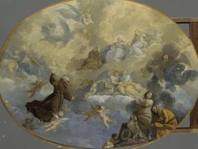 La Glorification de Saint Bernardin de Sienne-Donato Creti-Stretched Canvas Print