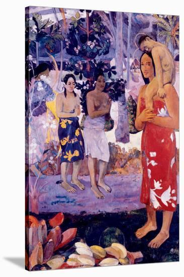 La Orana Maria-Paul Gauguin-Stretched Canvas Print