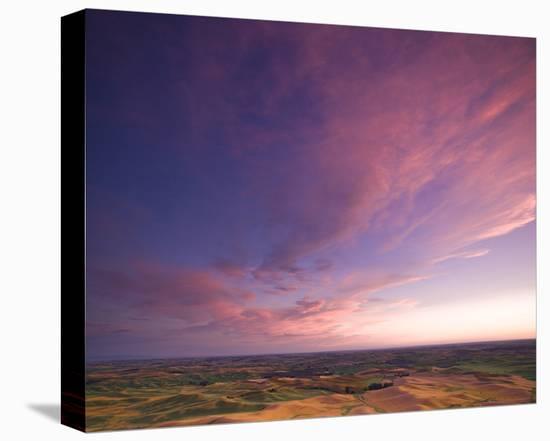 La Palouse Steptoe at Sunset II-Richard Desmarais-Stretched Canvas Print