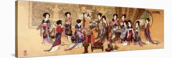 Ladies Enjoying Music--Stretched Canvas Print