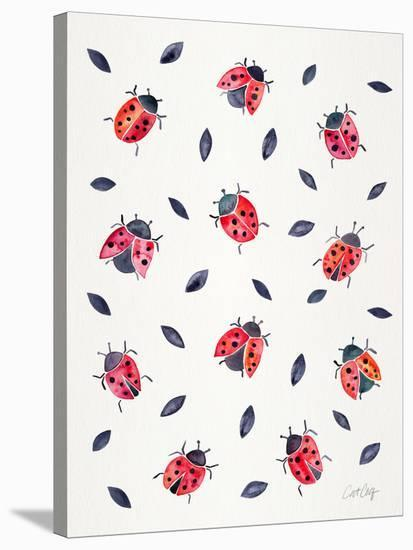 Ladybugs-Cat Coquillette-Stretched Canvas Print