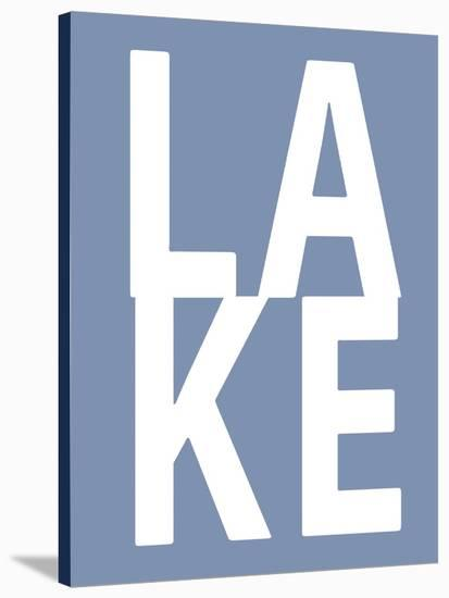 Lake Blue-Jamie MacDowell-Stretched Canvas Print
