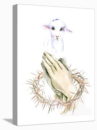 Lamb Pray-Suren Nersisyan-Stretched Canvas Print