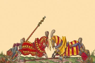 Lances At The Thrust Between Knights Art Print Hector Mair Paulus Art Com