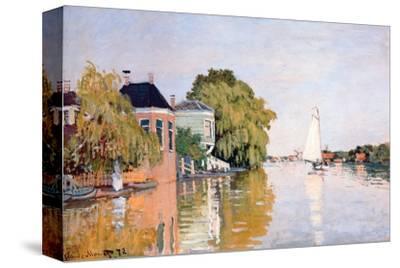 Landscape at Zaandan, c.1871-Claude Monet-Stretched Canvas Print