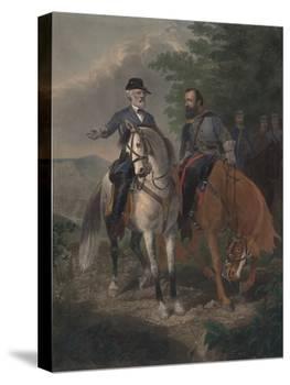 Last Meeting Between Generals Lee and Jackson, 1872-Everett D. B. Julio-Premier Image Canvas