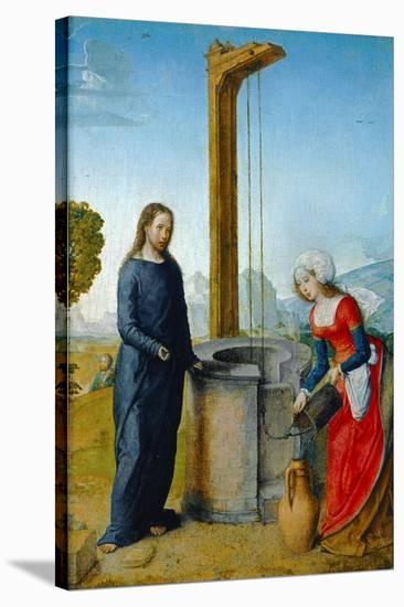 Le Christ et la Samaritaine-Juan de Flandes-Stretched Canvas Print