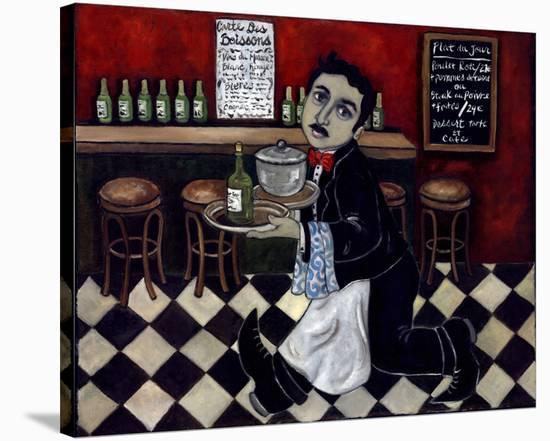 Le Garcon Arrvie Toute Suite--Stretched Canvas Print