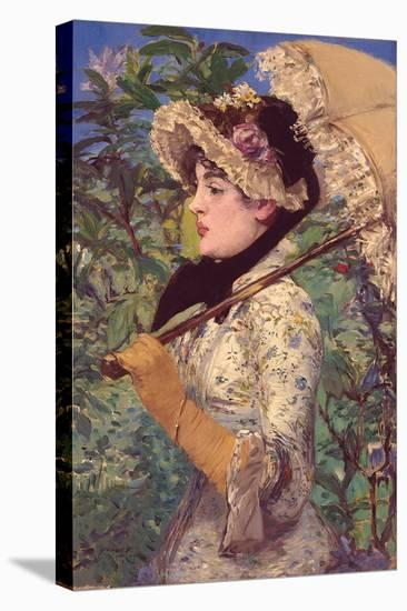 Le Printemps-Edouard Manet-Stretched Canvas Print