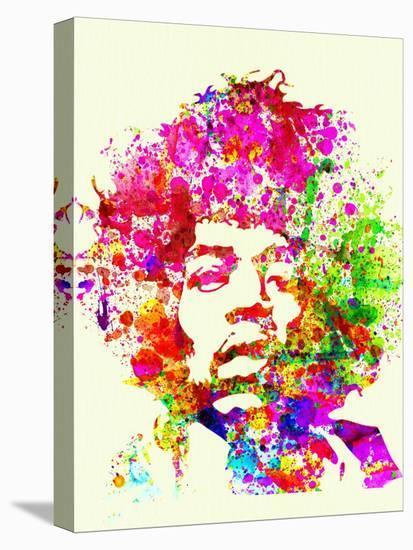 Legendary Jimi Hendrix Watercolor I-Olivia Morgan-Stretched Canvas Print