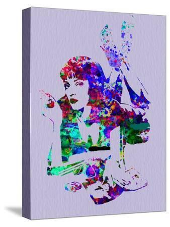 PULP FICTION Mia Wallace Graphic Style Stretched Canvas Wall Art ~ More Size