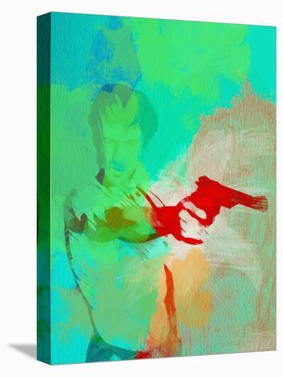 Legendary Taxi Driver Watercolor-Olivia Morgan-Stretched Canvas Print