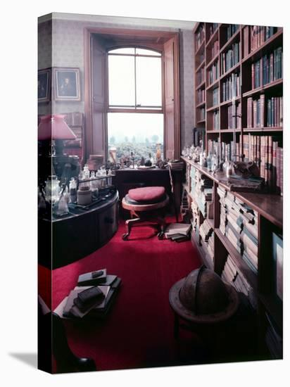 Library Study of Famed Naturalist Charles Darwin-Mark Kauffman-Stretched Canvas Print
