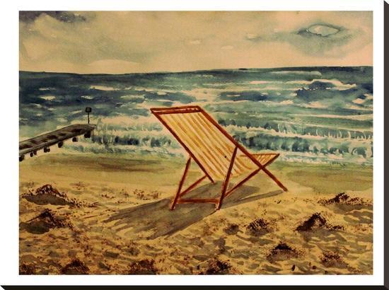 Liegestuhl-M Bleichner-Stretched Canvas Print