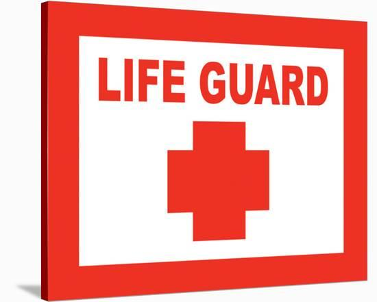 Life Guard--Stretched Canvas Print