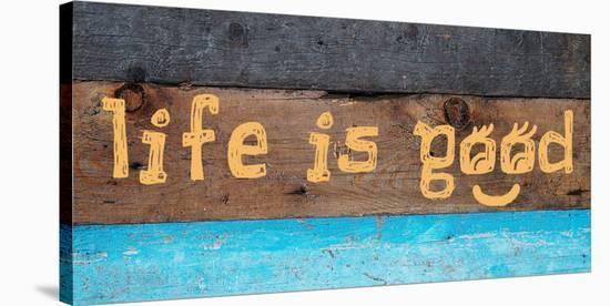 Life is good I-Irena Orlov-Stretched Canvas Print