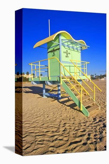 Lifeguard House South Beach FL--Stretched Canvas Print