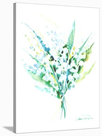 Lilies Of The Valley-Suren Nersisyan-Stretched Canvas Print