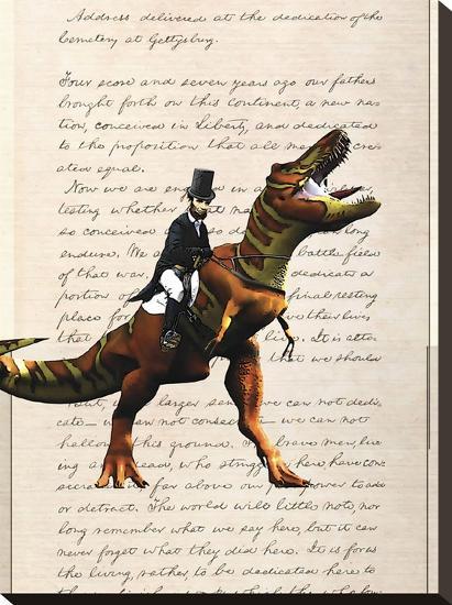 Lincoln T Rex-Matt Dinniman-Stretched Canvas Print