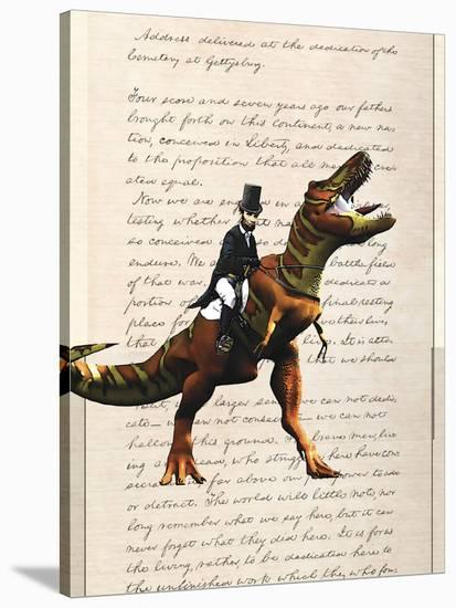 Lincoln T Rex-Matt Dinniman-Stretched Canvas Print