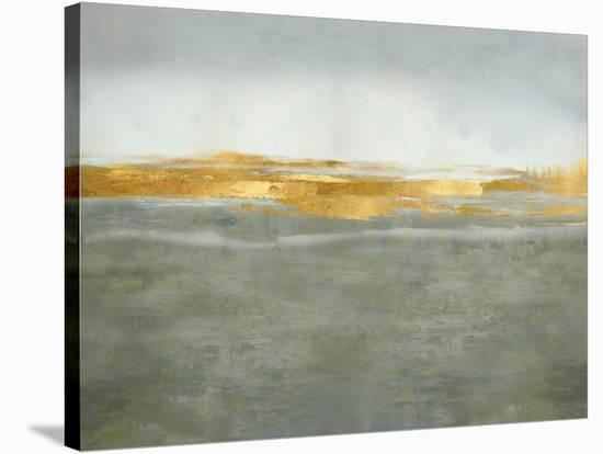 Linear Gold on Gray-Jake Messina-Stretched Canvas Print