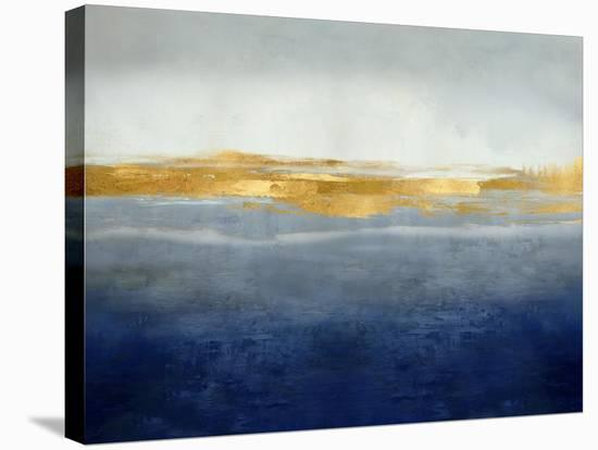 Linear Gold on Indigo-Jake Messina-Stretched Canvas Print