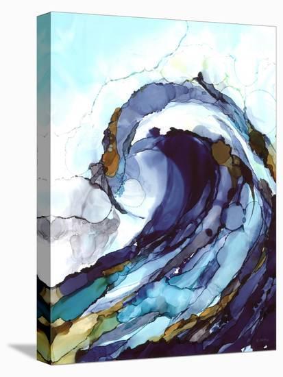 Liquid Wave 1-Megan Swartz-Stretched Canvas Print