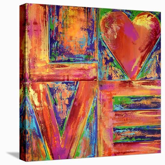 LIVE & LOVE, 2019-Ben Bonart-Stretched Canvas Print