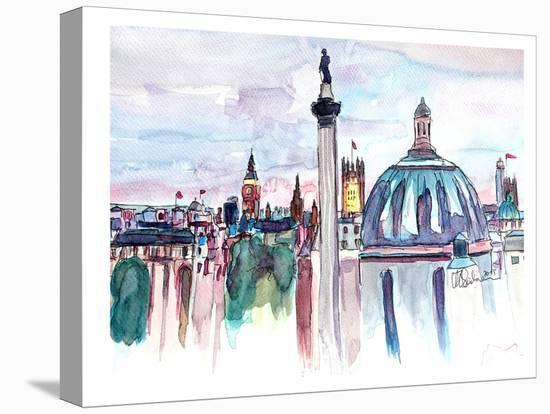 London Skyline With Big Ben And Nelson-M Bleichner-Stretched Canvas Print