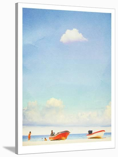 Lonely Skies Mexico-Mina Teslaru-Stretched Canvas Print