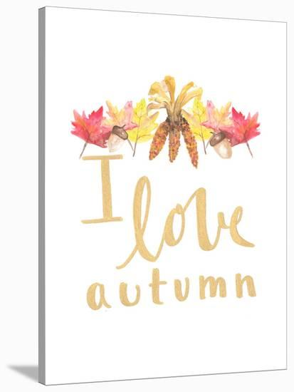 Love Autumn-Jetty Printables-Stretched Canvas Print