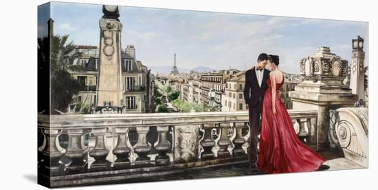 Lovers in Paris-Pierre Benson-Stretched Canvas Print