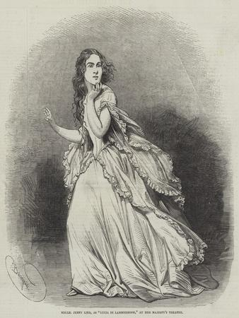 Mademoiselle Jenny Lind, as Lucia Di Lammermoor, at Her Majesty's Theatre-Charles Baugniet-Stretched Canvas Print