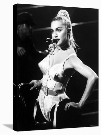 Madonna during Her Blonde Ambition Tour--Stretched Canvas Print