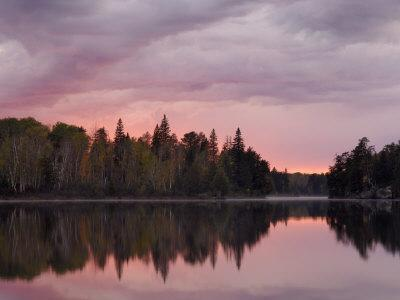 Malberg Lake, Boundary Waters Canoe Area Wilderness, Superior National Forest, Minnesota, USA-Gary Cook-Stretched Canvas Print
