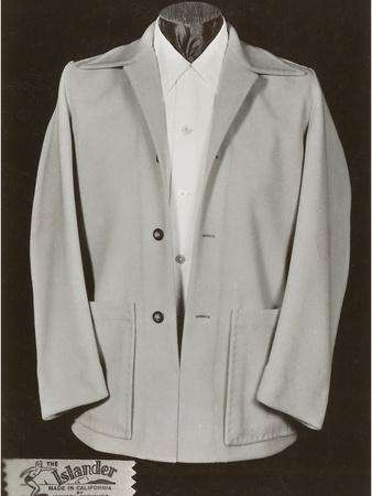 Man's Eisenhower Jacket-Found Image Press-Stretched Canvas Print
