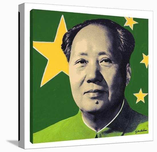 Mao: Green-Steve Kaufman-Gallery Wrapped Canvas