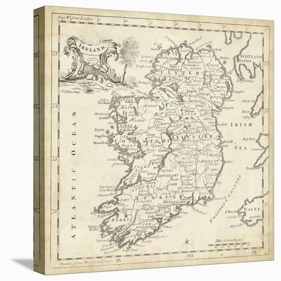 Map of Ireland-T. Jeffreys-Stretched Canvas Print