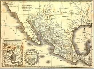 Map Of Mexico Dated 1821 Stretched Canvas Print by Tektite | Art.com
