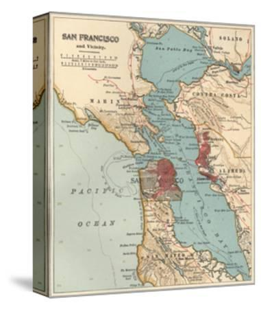 san francisco map 1900 Map Of The San Francisco Bay Area C 1900 Maps Giclee Print