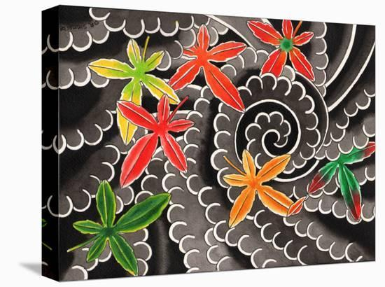 Maple Leaves-David Simmes-Stretched Canvas Print