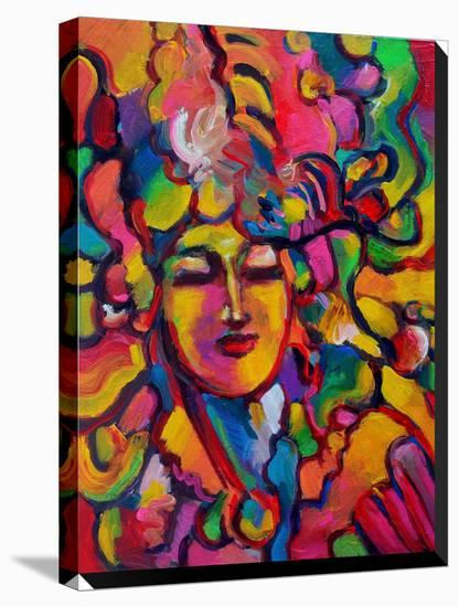 Mardi Gras Lady 6151-Howie Green-Stretched Canvas Print