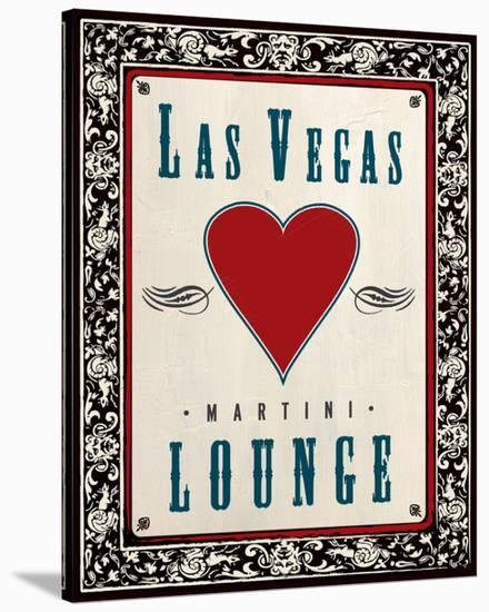 Martini Lounge--Stretched Canvas Print