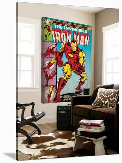 Marvel Comics Retro: The Invincible Iron Man Comic Book Cover No.126, Suiting Up for Battle (aged)--Loft Art