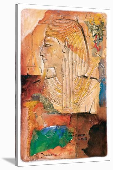 Medinet Habob in Thebe-Joadoor-Stretched Canvas Print