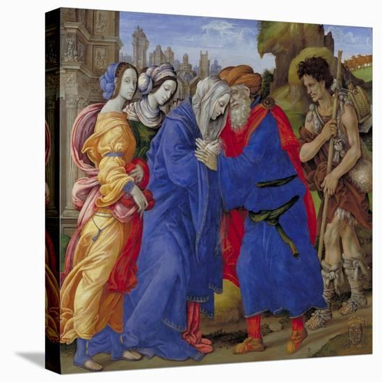 Meeting of Saints Joachim and Anne at the Golden Gate, 1497-Filippino Lippi-Stretched Canvas Print