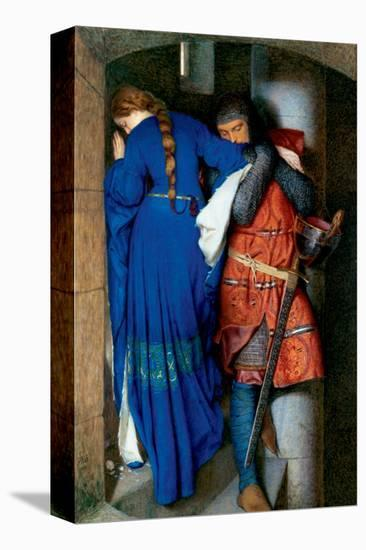 Meeting on Turret Stairs-Frederick William Burton-Stretched Canvas Print