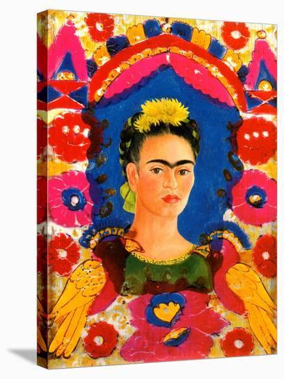 Mexico Frida Kahlo Senorita Fiesta Poster-Freida Kalo-Stretched Canvas Print