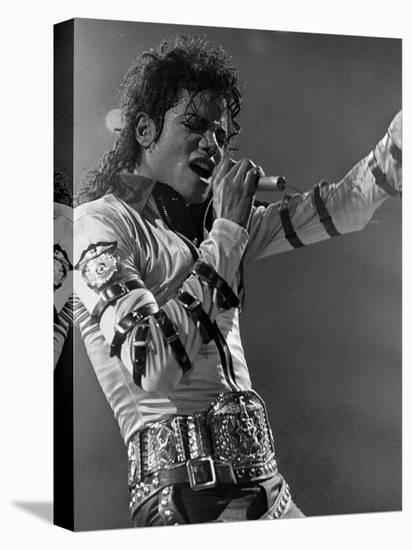 Michael Jackson Performing--Stretched Canvas Print